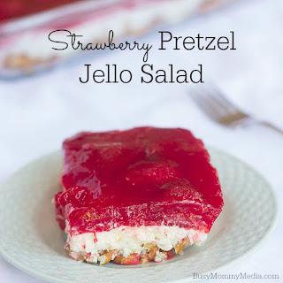 Strawberry Pretzel Jello Salad.