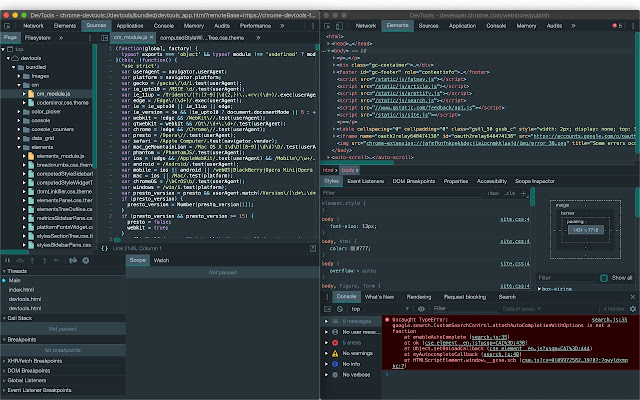 Material DevTools Theme Collection