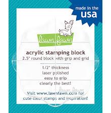 Lawn Fawn 2.5 Round Acrylic Block W/Grip & Grid