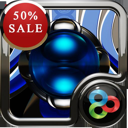 Blue Silver GO Launcher Theme