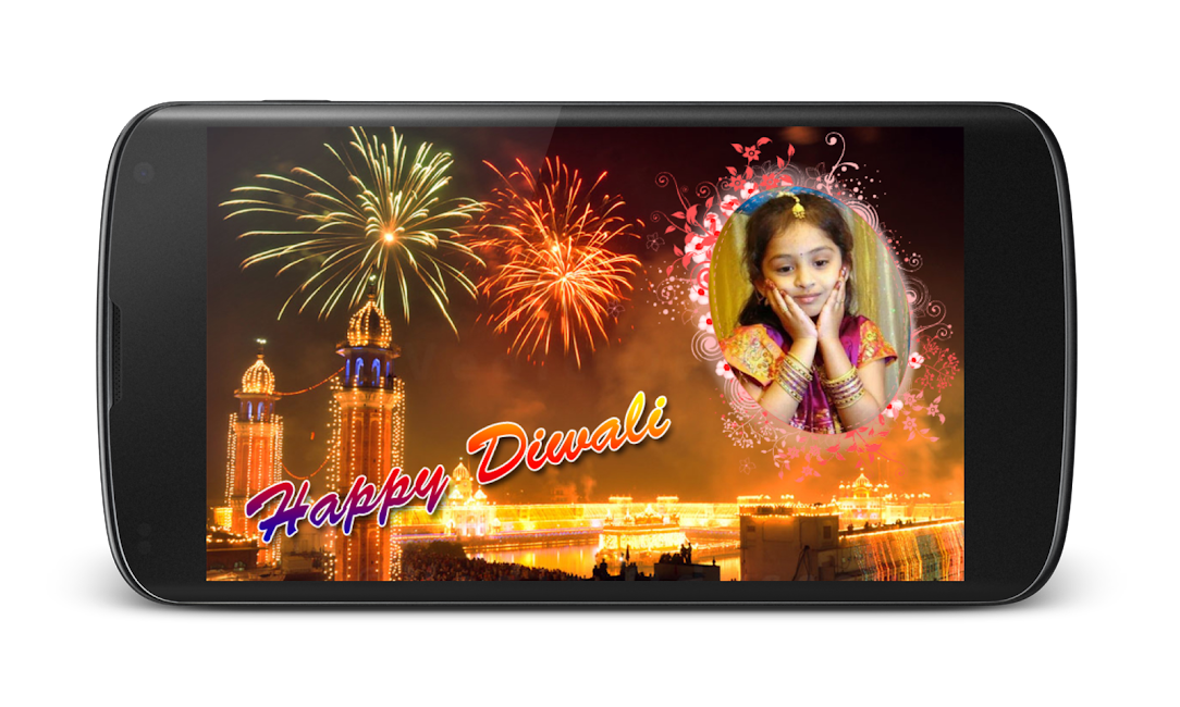 #2. Diwali Photo Greeting Frames (Android)