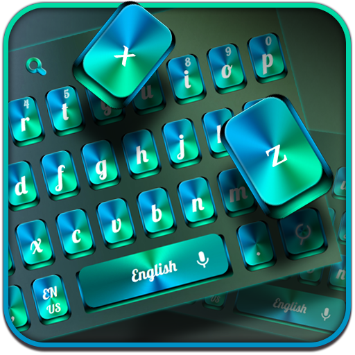 Green Metal Keyboard