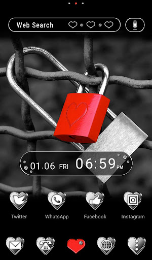 Love Theme Heart Padlock 1.0.2 Windows u7528 1