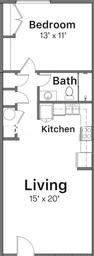 1 Bed 1 Bath