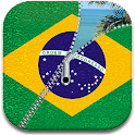 Brazil Flag Zipper Screen icon