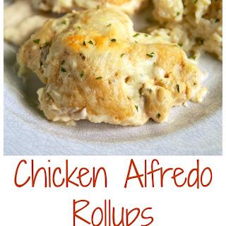 Chicken Alfredo Rollups.