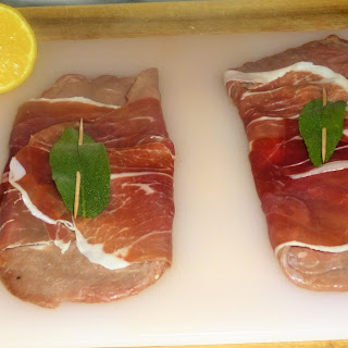 Saltimbocca Style Veal with Parma Ham, Sage and Lemon served with Frites