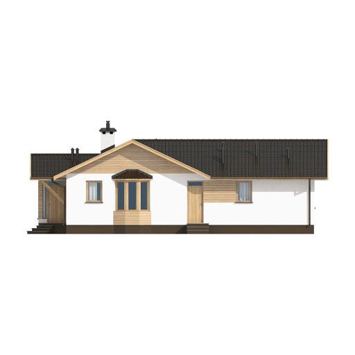D10 - Iwona wersja drewniana - Elewacja tylna