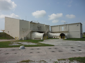 Photo: Launch complex 21. Now cleared of vegetation and a step closer to preservation. Just north of the lake.