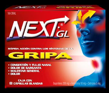 Next -GL Caja X 8 Tabletas