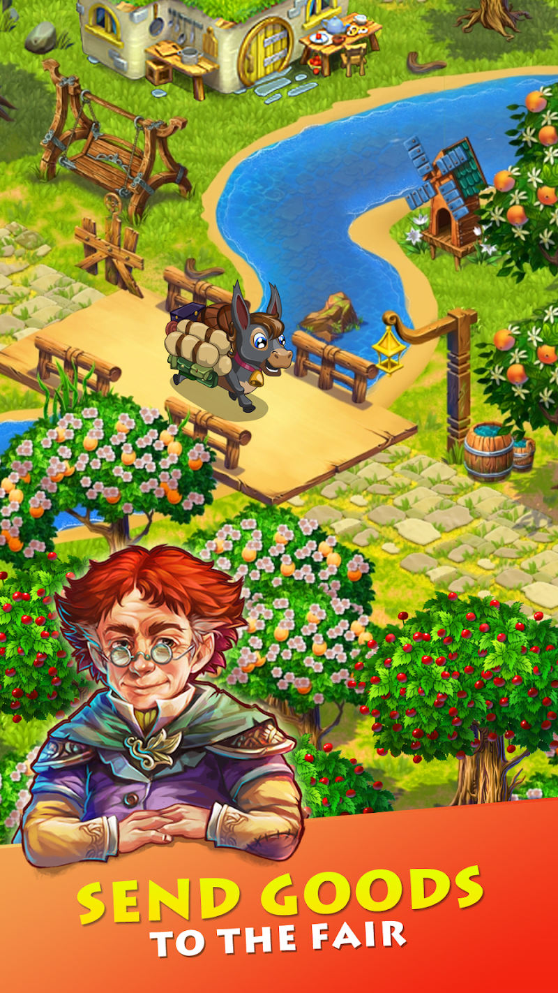 Farmdale - farm village simulator Screenshot 1