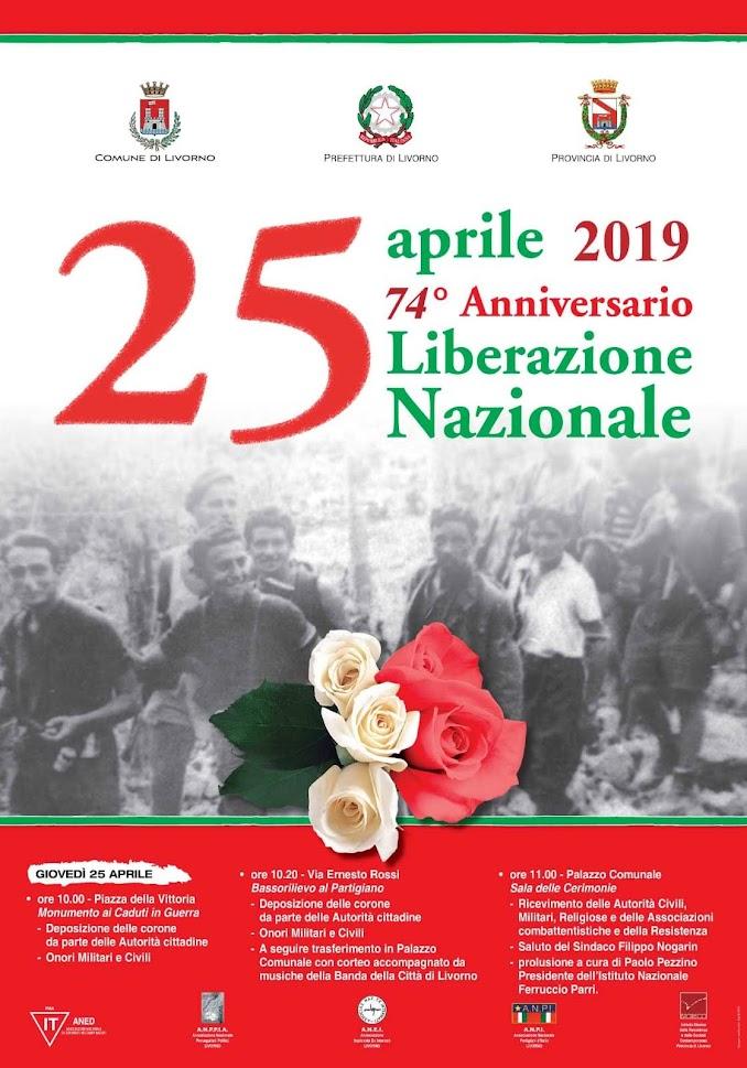 Giovedì 25 aprile 2019 – Anniversario della liberazione d'Italia