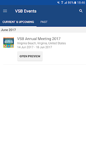 Virginia State Bar Events- screenshot thumbnail