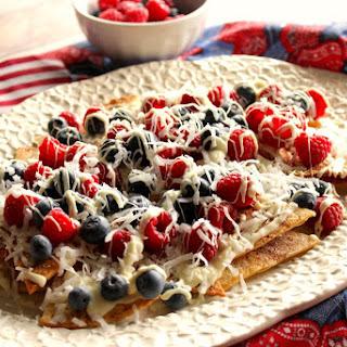 Red, White and Blue Dessert Nachos