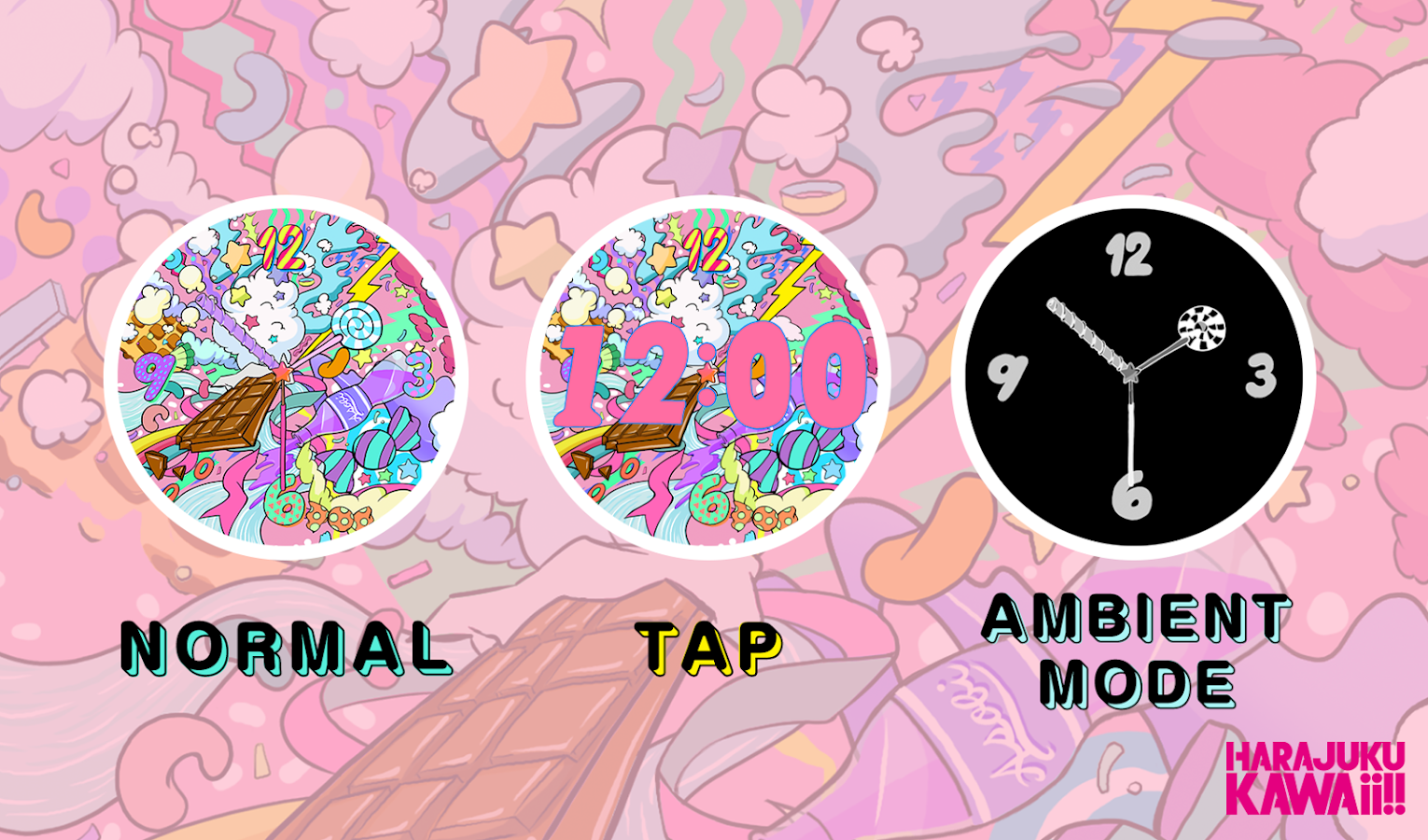 HARAJUKU KAWAii!! WATCHFACE- screenshot