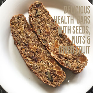 Health Bars with seeds, nuts and dried fruits.