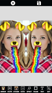 Photo Editor Selfie Camera Filter & Mirror Image Screenshot