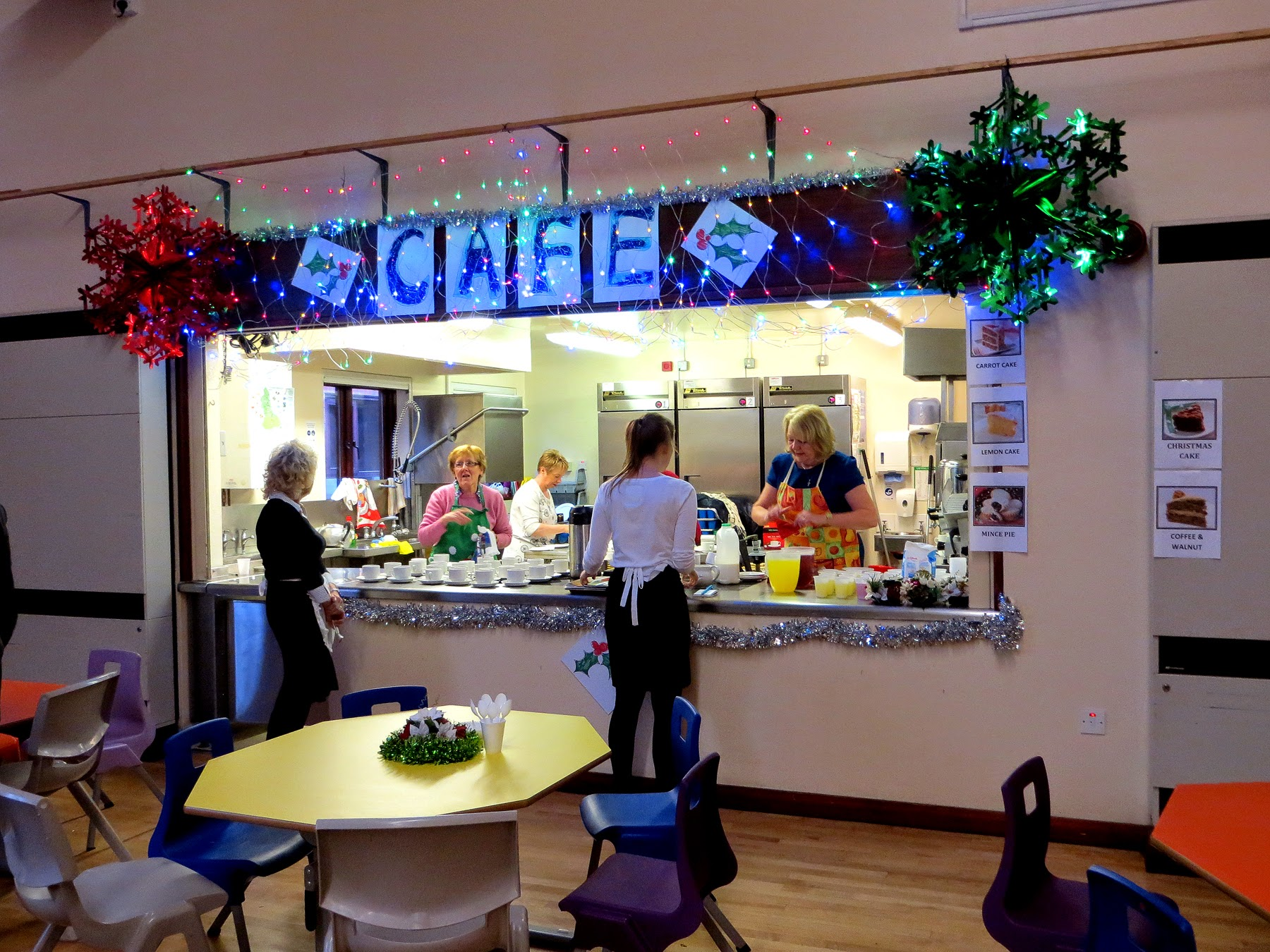 Photo: Preparations in full swing at the Cafe