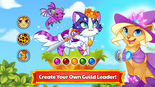 Castle Cats MOD APK Idle Hero RPG 2.14.4 (Unlimited Money) 3