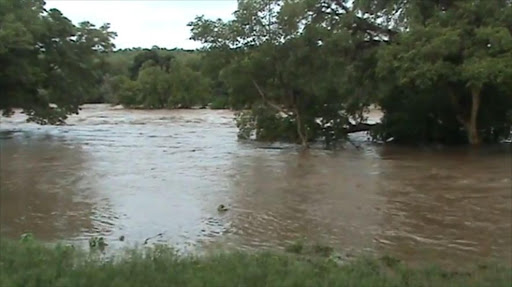 The Olifants River in flood