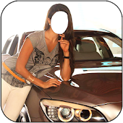 Women With Car Photo Suit