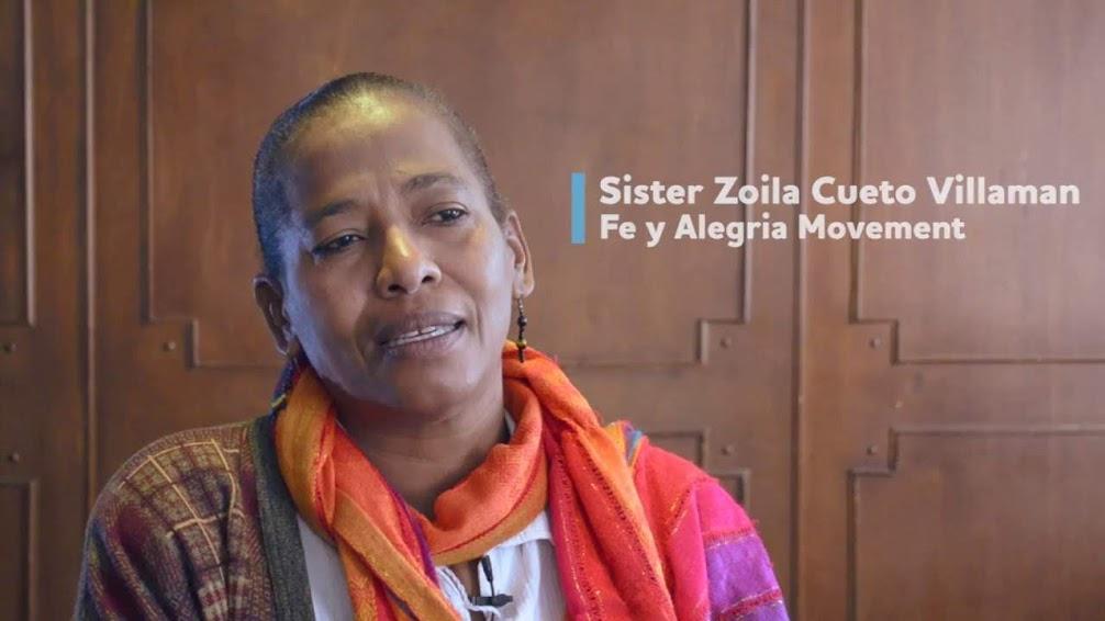 La hermana Zoila Cueto Villamán en la entrevista que le hizo la Oficina de Washington para Latinoamérica (WOLA), en Bogotá en 2016.