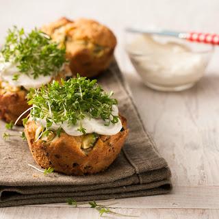 """Zucchini-Schafskäse-Muffins """"Bubikopf"""""""