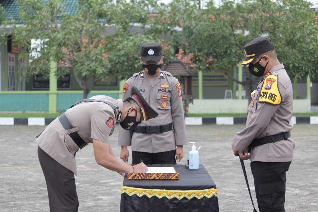 Sertijab Kasat Reskrim Baru Polres Sampang