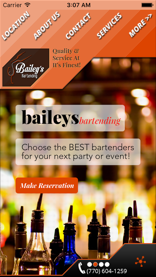 Bailey's Bartending LLC- screenshot