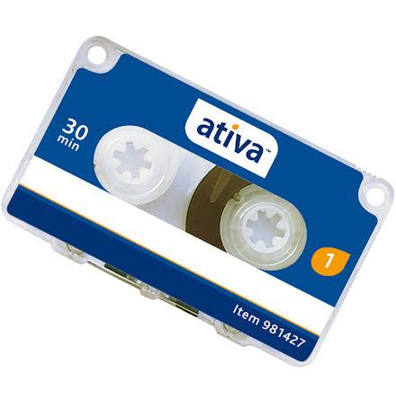 Minikassett Ativa2x15min