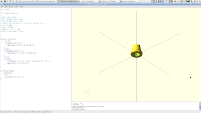Photo: Described the problem to OpenSCAD