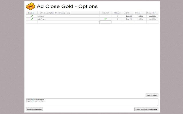 Ad Close Gold