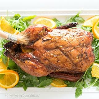 Five-Spiced Orange Glazed Roasted Duck.