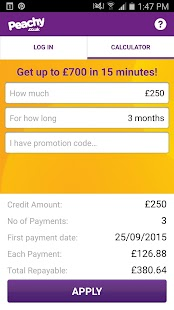 Peachy Loans- screenshot thumbnail