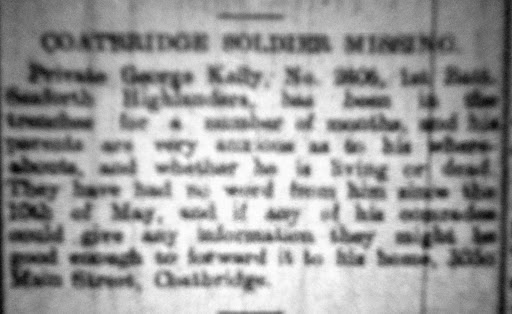 George Kelly newspaper clipping