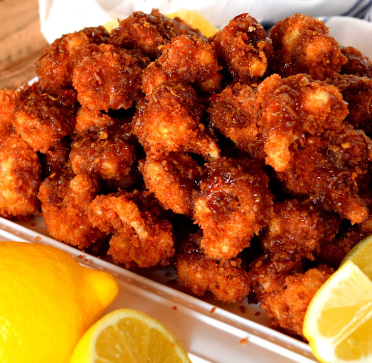 Crispy Fried Honey Lemon Glazed Cauliflower Recipe | Yummly
