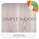 XPERIA™ Simple Wood Theme Android