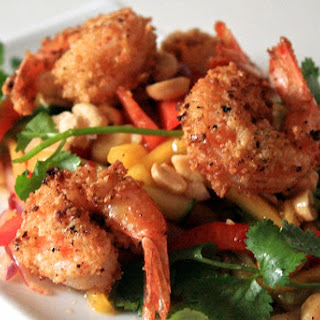 Almond Crusted Shrimp and Mango Salad