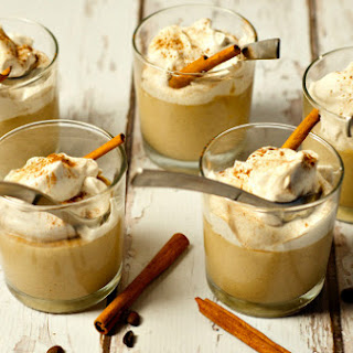 Coffee Pudding with Sweet Caramel Whipped Cream.