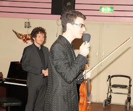 Photo: Arthur met Florent Mourier, piano