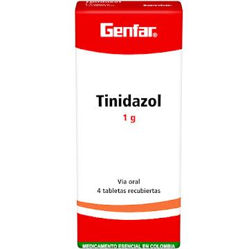 Tinidazol Genfar 1G   Tabletas Caja X4Tab.