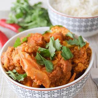 Quinoa, Cauliflower & Butternut Squash Curry.