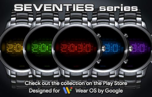 Download LED watch face   Vintage   Seventies Amethyst MOD APK 7