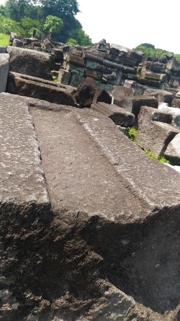 stone slots at prambanan