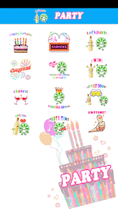 Party Sticker GIF Free screenshot 2