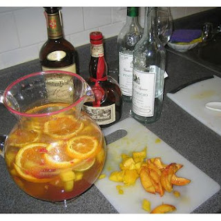 Peach and Orange Sangria.