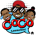CoCo Launcher - Black Emoji, 3D Theme 1.0.1