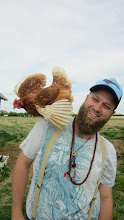 Photo: Joel and chicken #1