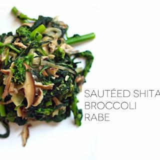 Sauteed Shitake And Broccoli Rabe