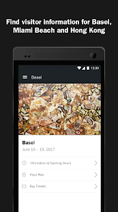 Art Basel - Official App: miniatura de captura de pantalla